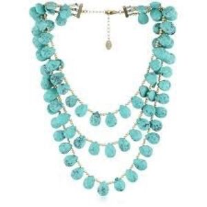 Danielle Stevens Three Strand Turquoise Necklace